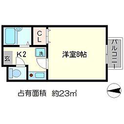 リーヴル松ヶ崎[1階]の間取り