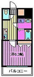 キャピタル戸田[2階]の間取り