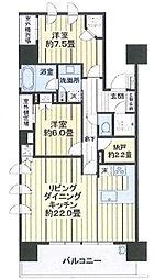ライオンズ横浜新子安ハーバーコート[15階]の間取り