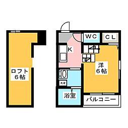 Grand Room 博多[2階]の間取り