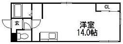 北海道札幌市中央区南四条東4の賃貸マンションの間取り