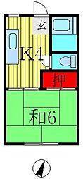 テラサキコーポ[2階]の間取り