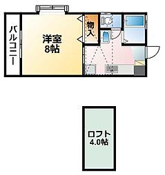千葉県茂原市早野新田の賃貸アパートの間取り