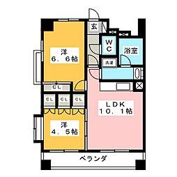 静岡馬場町エンブルコート[3階]の間取り