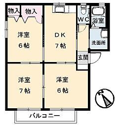 広島県呉市海岸2丁目の賃貸アパートの間取り