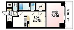 Osaka Metro御堂筋線 新大阪駅 徒歩3分の賃貸マンション 18階1LDKの間取り