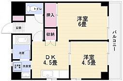 エクセレント横須賀[5階]の間取り