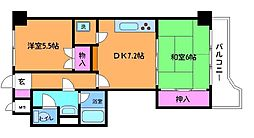 東京都調布市調布ケ丘1丁目の賃貸マンションの間取り