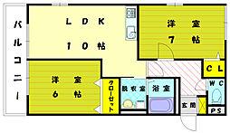 コンフォート3[2階]の間取り