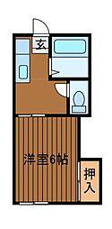 ドムス・マツヤ[2階]の間取り
