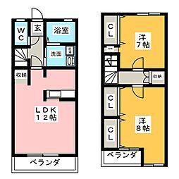 [テラスハウス] 愛知県高浜市青木町4丁目 の賃貸【愛知県 / 高浜市】の間取り
