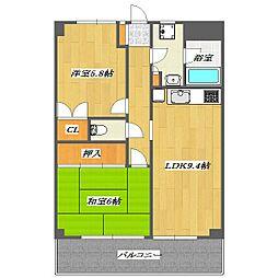 Fuji Manshon No.2[11階]の間取り