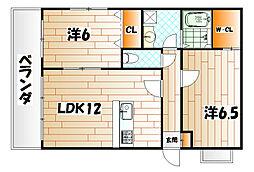プレステージ・デル・片野[4階]の間取り