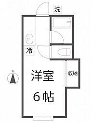 コーポレイバン[1階]の間取り