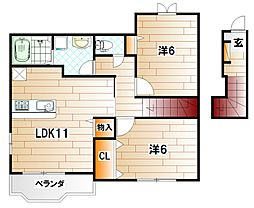 ソレーユ上曽根 A棟[2階]の間取り