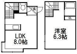 シーガルハウス[2階]の間取り