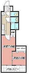 デザイナープリンセス77[502号室]の間取り