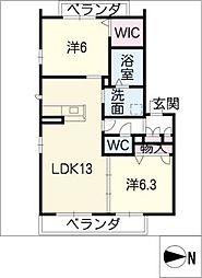 リラフォート松原[3階]の間取り