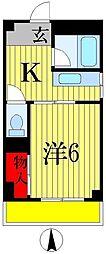三上マンション[3階]の間取り