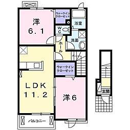 プレミアムコートA[2階]の間取り