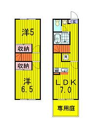 [テラスハウス] 千葉県我孫子市南新木2丁目 の賃貸【/】の間取り