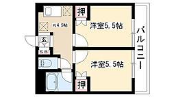 愛知県名古屋市南区戸部町4丁目の賃貸マンションの間取り