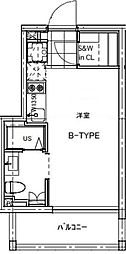 B CITY APARTMENT TACHIKAWA[206号室号室]の間取り