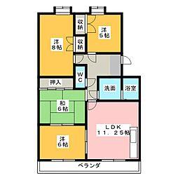 サニーコート朝宮[3階]の間取り
