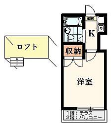 メゾンFUJI(桜ヶ丘)[2階]の間取り