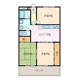 マンションエスポア21[3階]の間取り