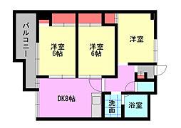 ニシキグレイス浅野[7階]の間取り