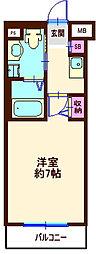 神奈川県横浜市神奈川区反町1丁目の賃貸マンションの間取り