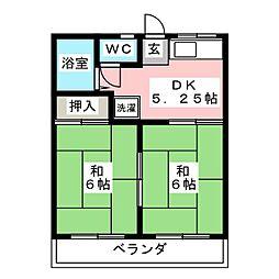 DAYドリームハイツ2 B[1階]の間取り