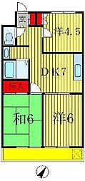 ルナマンション[3階]の間取り