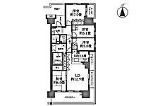 間取り(4LDK/12.9帖リビング/5帖洋室/5.1帖洋室/7.0帖洋室/6.0帖和室専有面積91.8平米南東の角部屋/陽当たり良好/室内設備・共用施設充実/シンプルな内装はおしゃれのポイントです。)