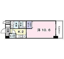 福岡県北九州市小倉北区室町2丁目の賃貸マンションの間取り
