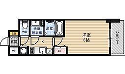 プレサンス野田阪神駅前ザ・プレミアム[2階]の間取り