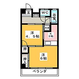 佐藤ハイツ[3階]の間取り