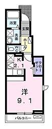 ガーデニア湘南[1階]の間取り