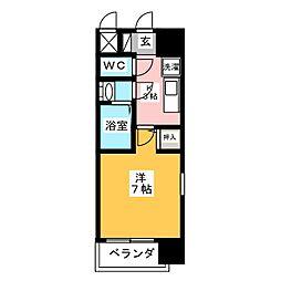 ジュネス太閤[7階]の間取り
