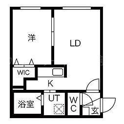 北海道札幌市厚別区厚別南2丁目の賃貸マンションの間取り
