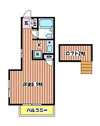 ウインド立川[2階]の間取り