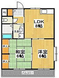 原第6マンション[206号室]の間取り