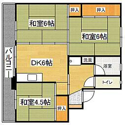 ビレッジハウス下広川 2号棟[1階]の間取り