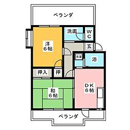 メゾン叶21[4階]の間取り