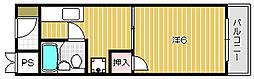 大阪府茨木市稲葉町の賃貸マンションの間取り
