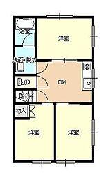 JR山形新幹線 山形駅 バス16分 北高前下車 徒歩1分の賃貸アパート 2階3Kの間取り