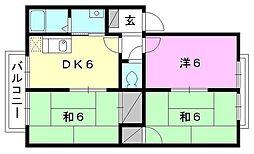 ガ−デンハイツ[C-102 号室号室]の間取り