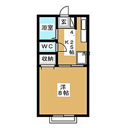 エクセルハイツI[2階]の間取り