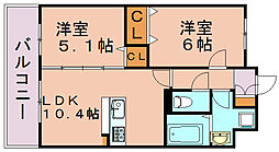 MRレジデンス博多[8階]の間取り